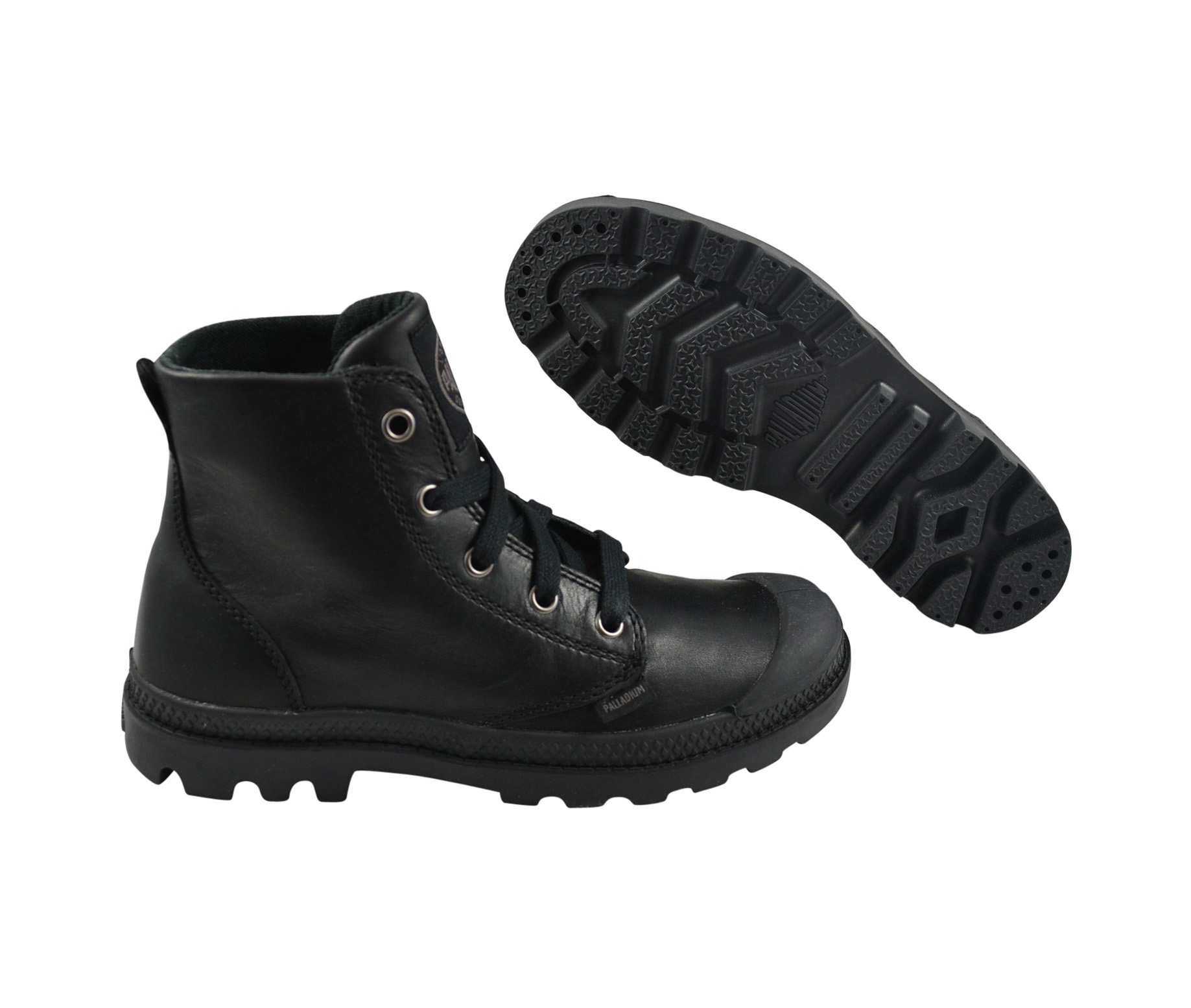 palladium pampa hi leather black schuhe sneaker schwarz leder ebay. Black Bedroom Furniture Sets. Home Design Ideas