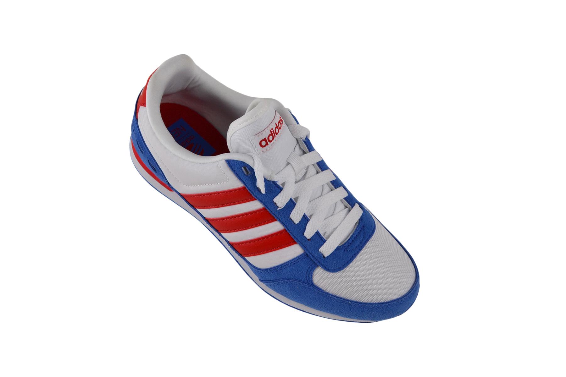Details zu Adidas Neo City Racer weißblaurot SneakerSchuhe