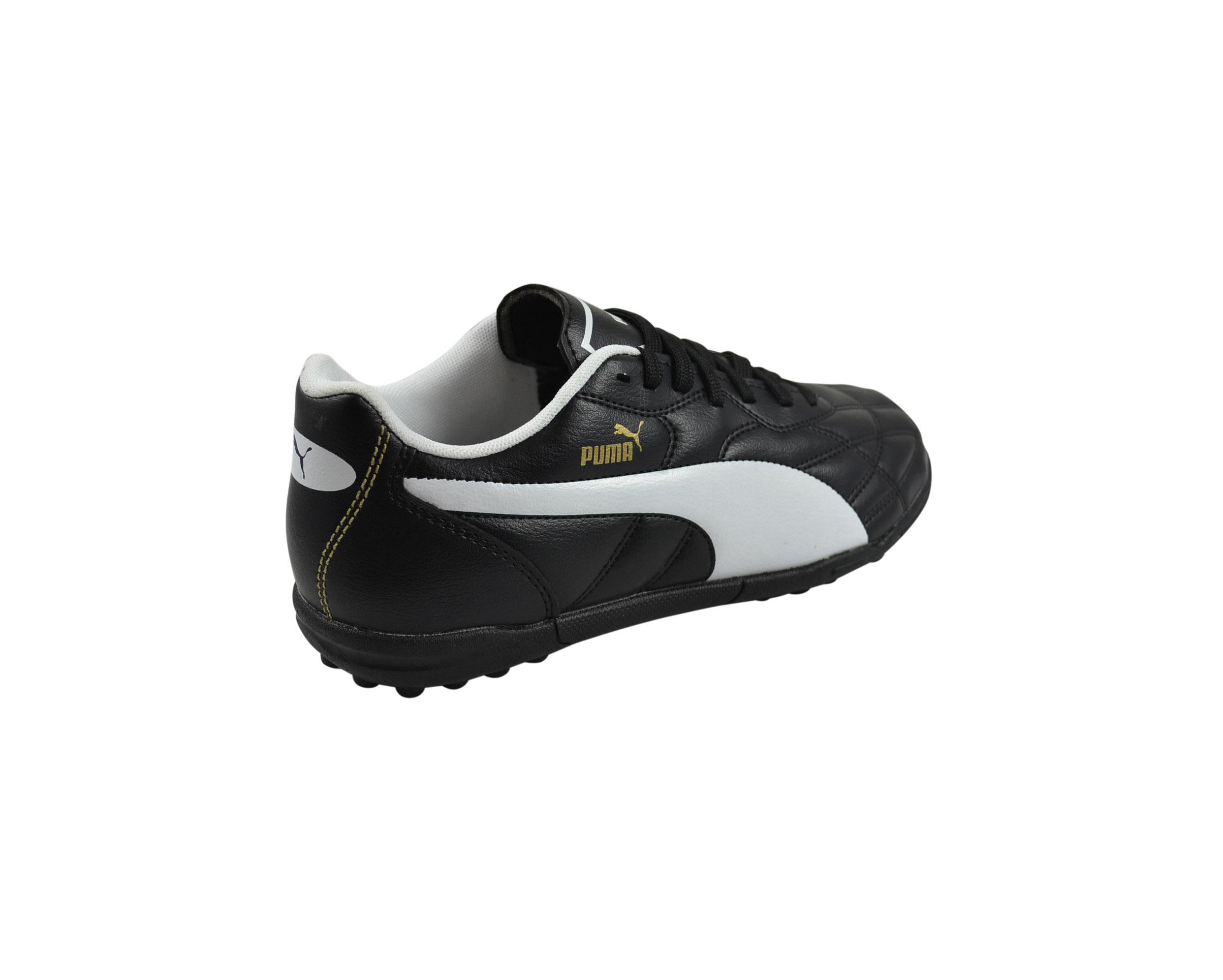 Dettagli su Puma Classico Tt BlackBianco Puma Oro Scarpe da Calcio 103349 01