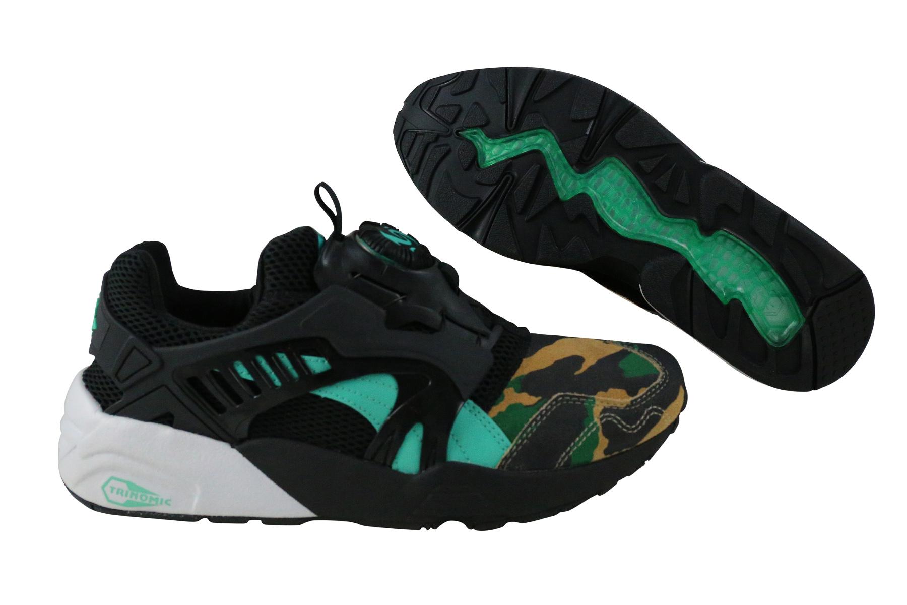 Details zu Puma Disc Blaze Night Jungle black electric green Schuhe 363060 01 schwarz