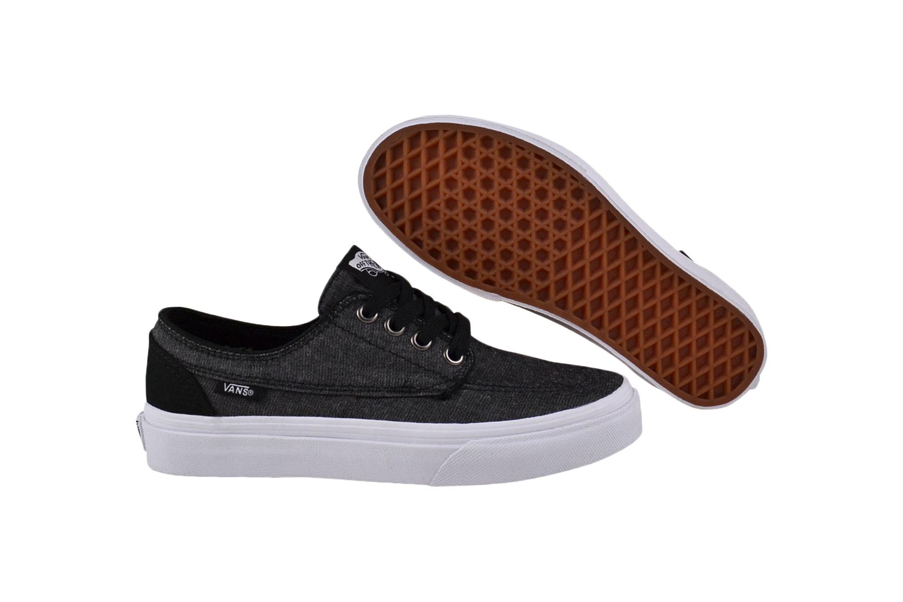 Details zu Vans Brigata blacktrue white SneakerSchuhe ZSLF7O schwarzgrauweiss