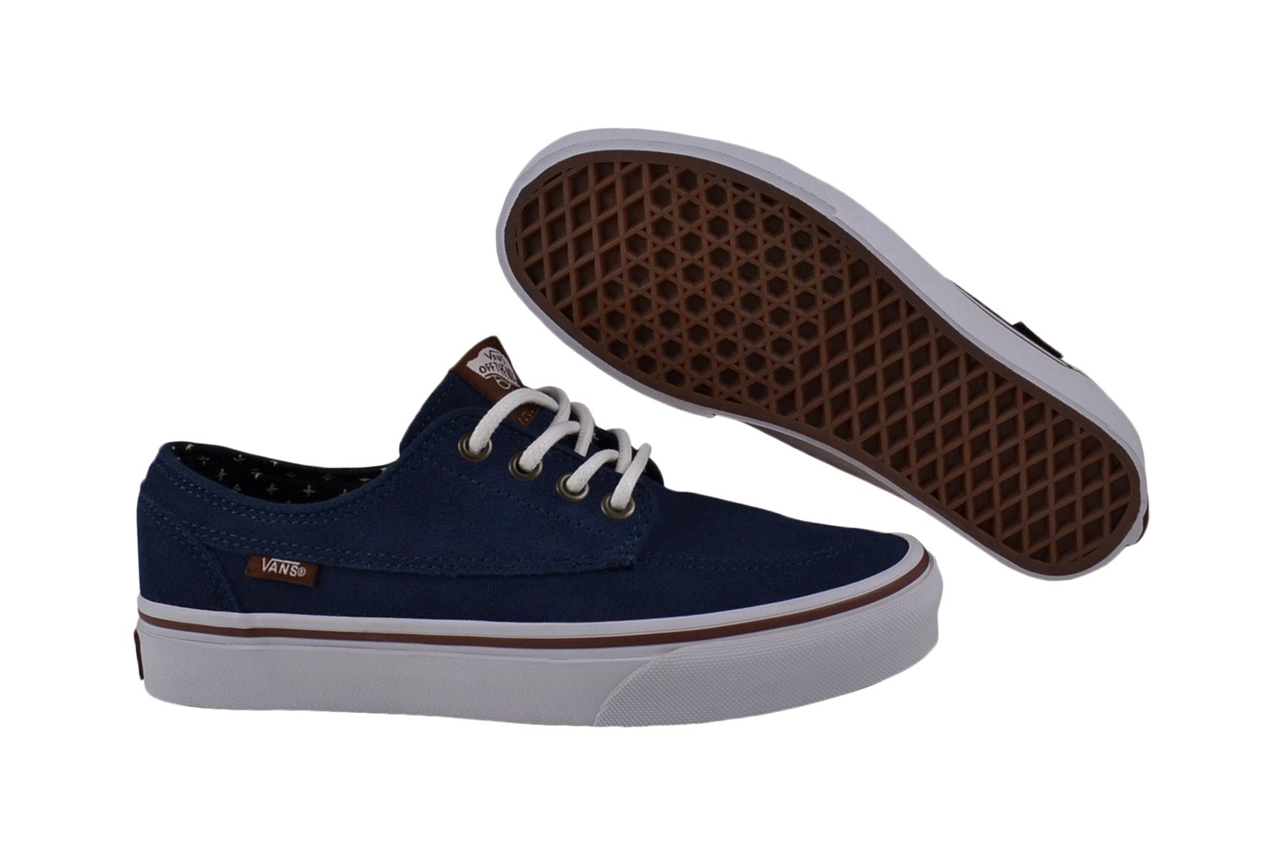 Détails sur Vans Brigata Insigne Bleu Plus Baskets Chaussures Bleu Zslgxi