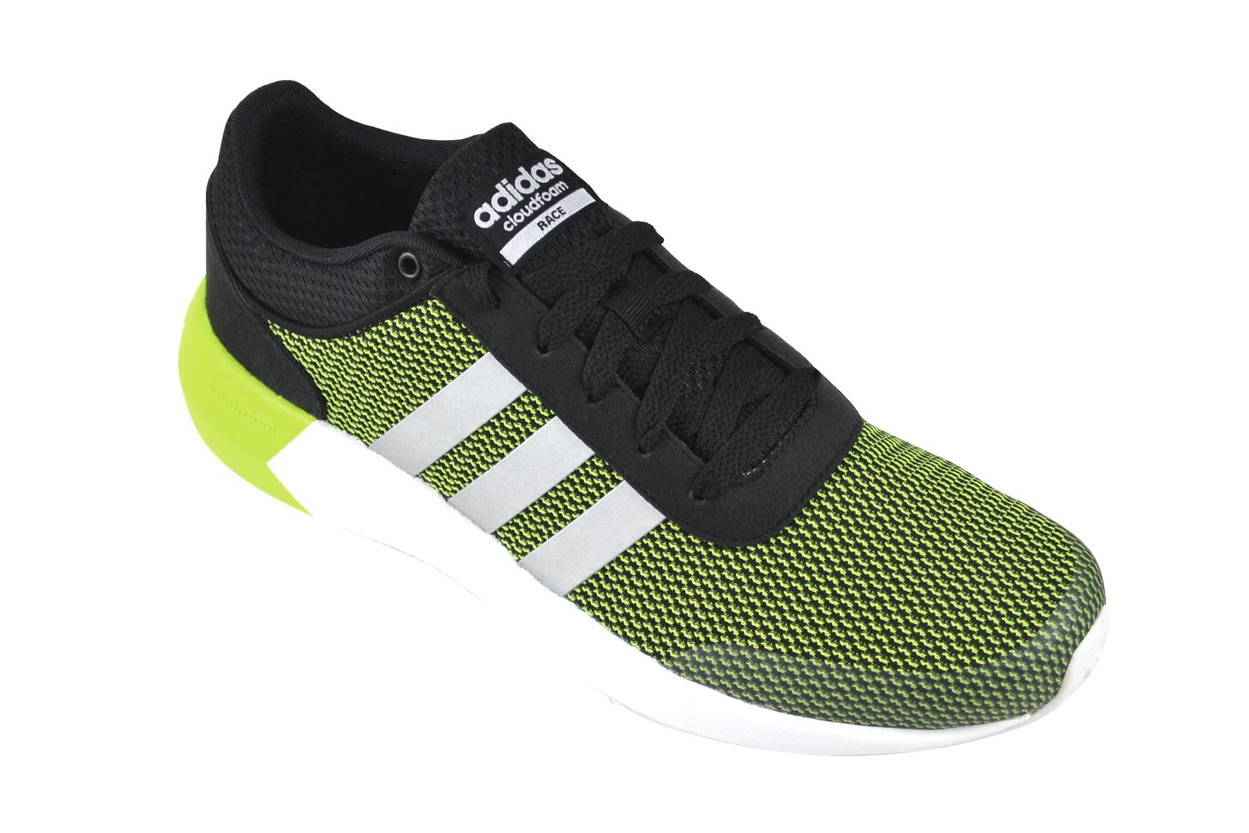 Details zu Adidas Cloudfoam Race solar yellow silver black Sneaker Schuhe gelb AW5325