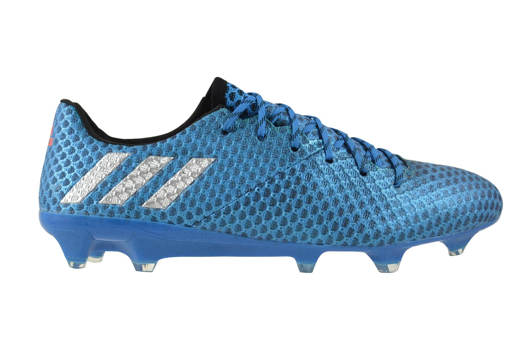 Dettagli su Adidas Messi 16.1 Fg Blue Argento Black Sneaker Scarpe Blu AQ3109