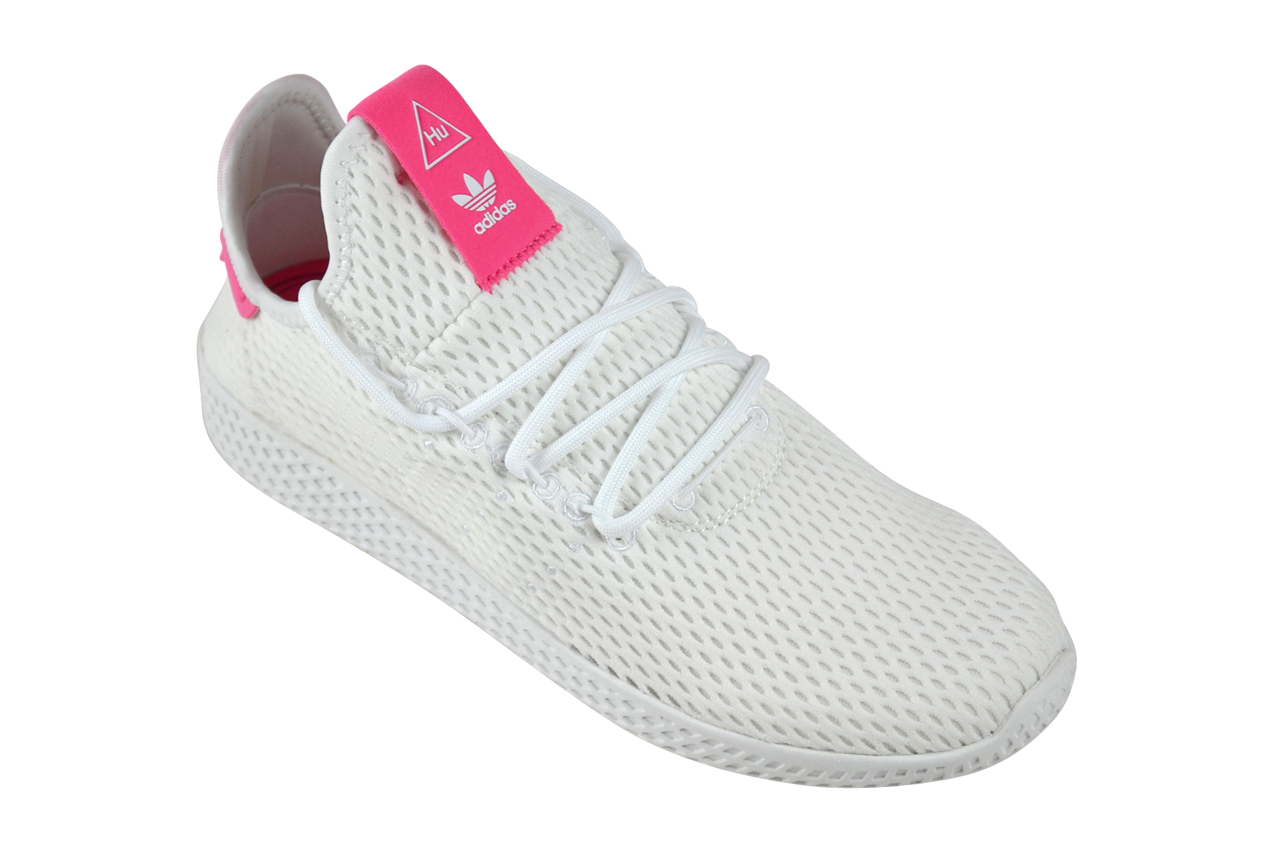 Détails sur Adidas Pharrell Williams Tennis Pw Hu Blanc Rose Chaussures Baskets Blanc BY8714