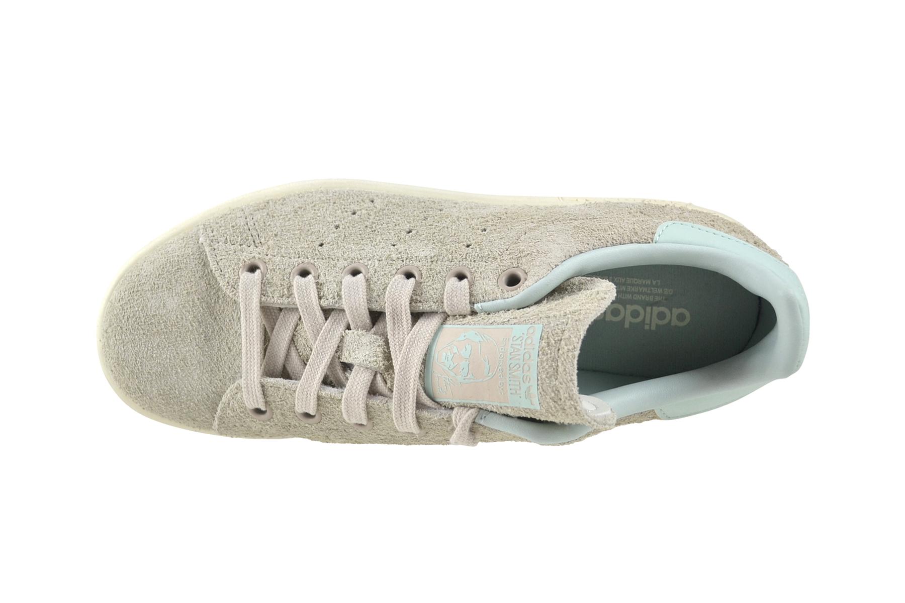 Sie sparen bis zu 70% Adidas Stan Smith Premium Weiß Grau M