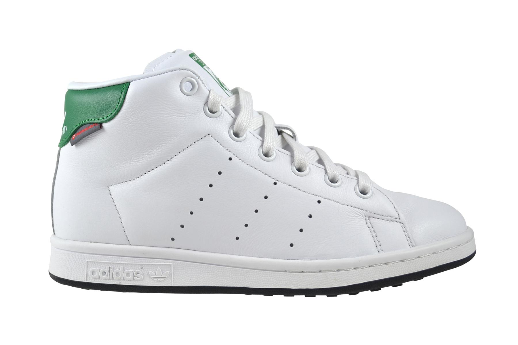 chaussures de séparation 700fb dda47 Détails sur Adidas Stan Smith mi Hiver Blanc Vert Chaussures Baskets Blanc  S80498
