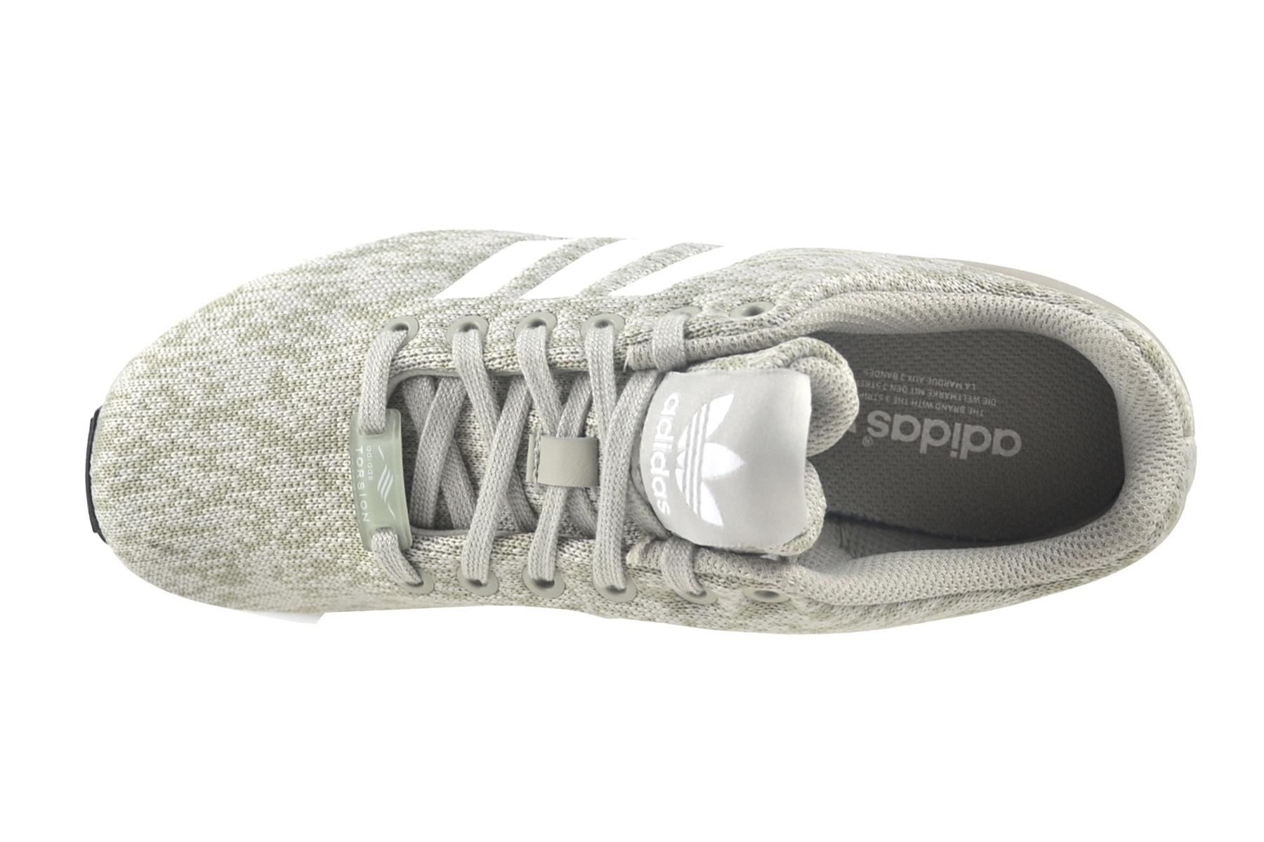 Details zu Adidas ZX Flux sesame white black Torsion Schuhe Sneaker grau BY9424