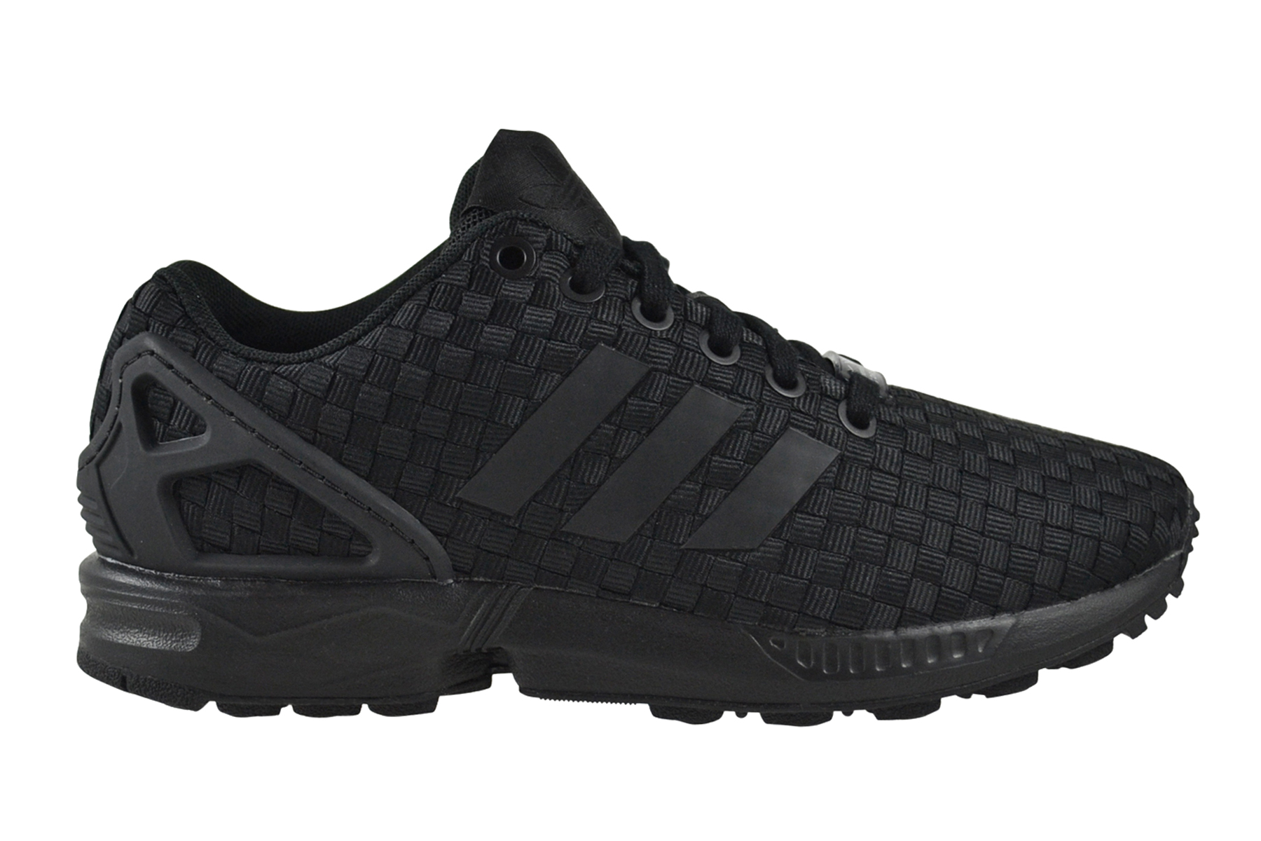 Details zu Adidas ZX Flux Woven Triple core black Sneaker Schuhe schwarz B34005