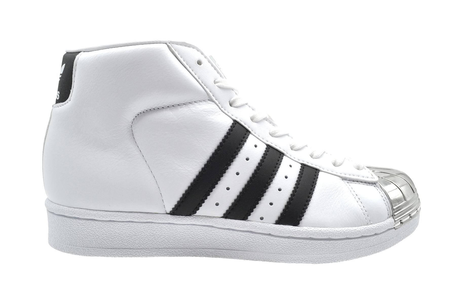 Details about Adidas Pro Model Metal Toe W weiß schwarz Damen mid cut Sneakers Leder NEU