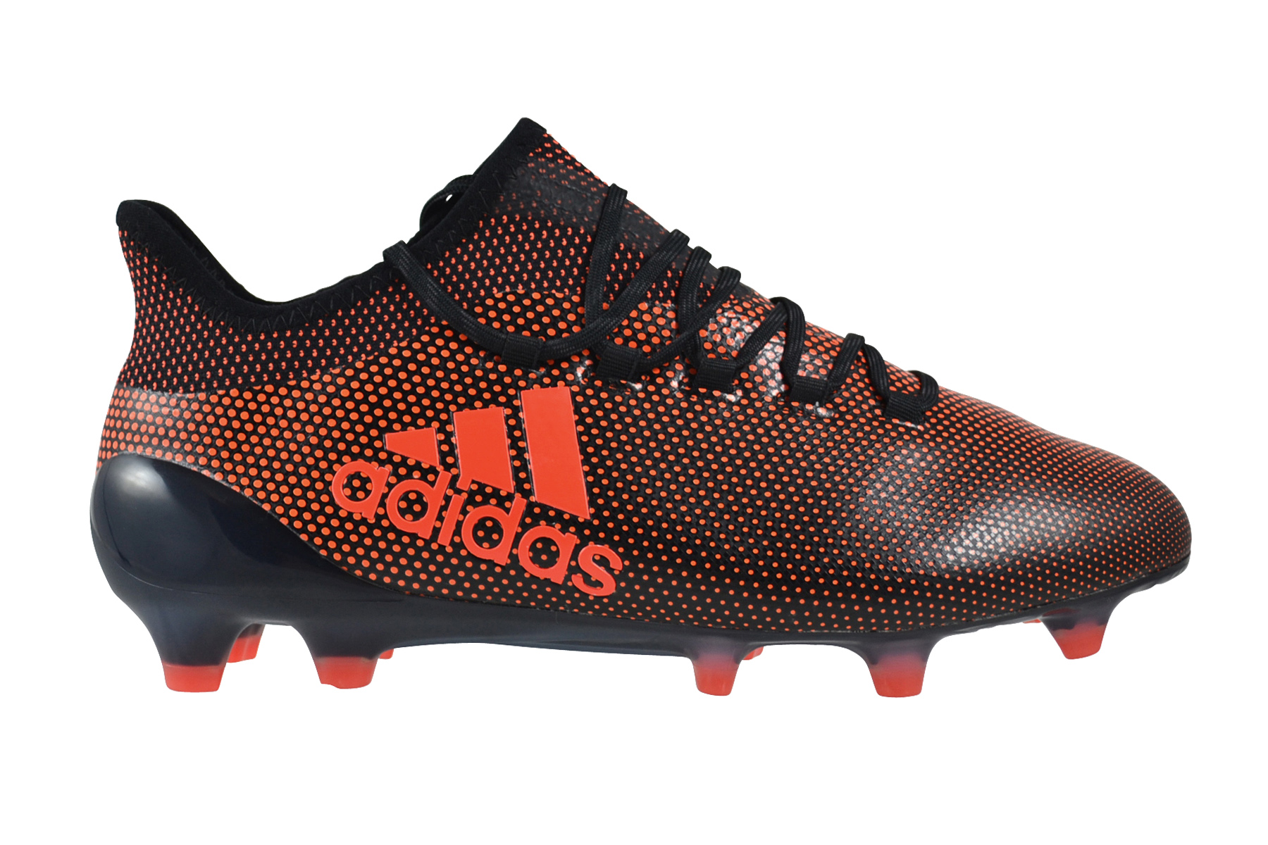 Dettagli su Adidas X17 1 Fg Core Nero Rosso Solar Arancione Scarpe da Calcio Nero S82288