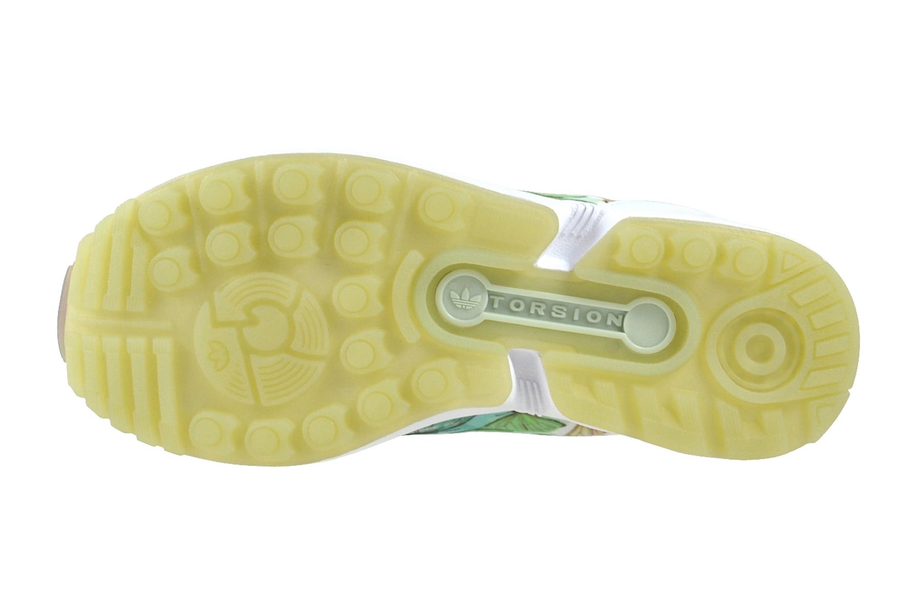 Details zu Adidas ZX Flux originals Women footwear white green Sneaker Schuhe BA7644
