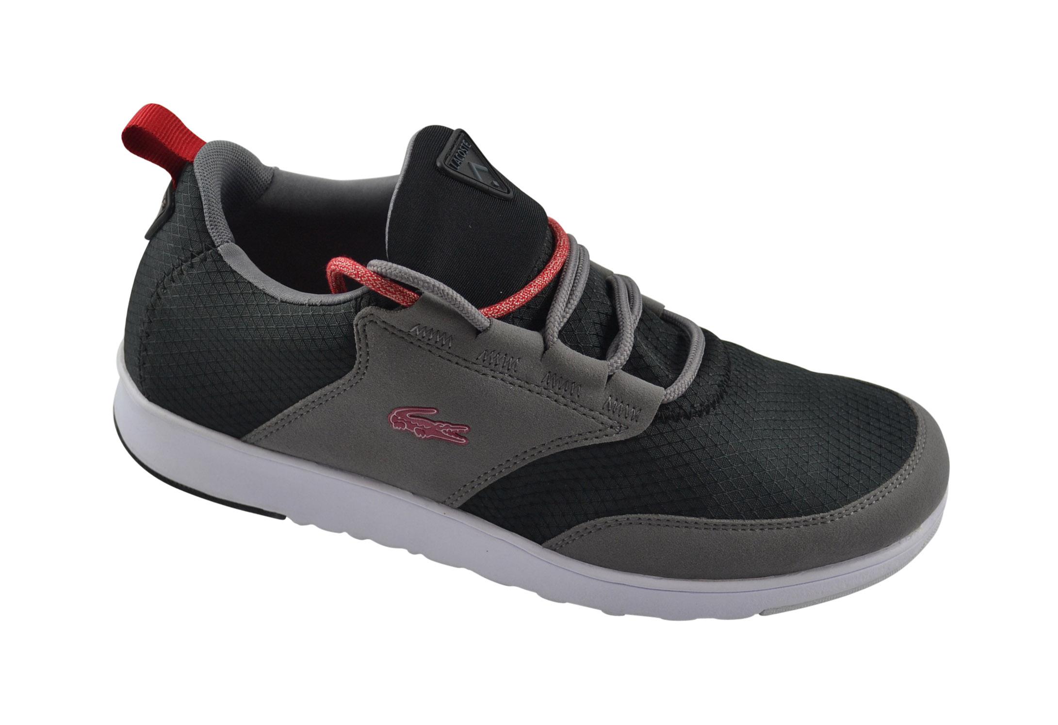 lacoste 01 com spm black dark grey schuhe light sneaker gr 41 sale ebay. Black Bedroom Furniture Sets. Home Design Ideas